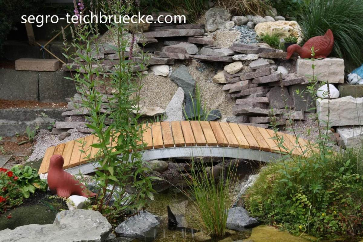 Teichbrücke Segro Aluminium 130 cm