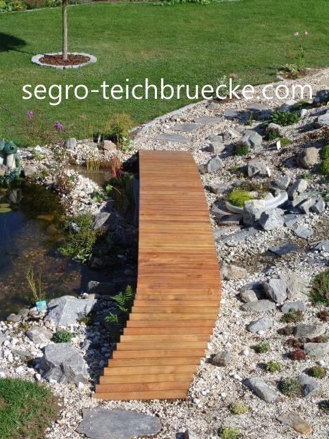 Teichbrücke segro Aluminium Sonderlösung oben