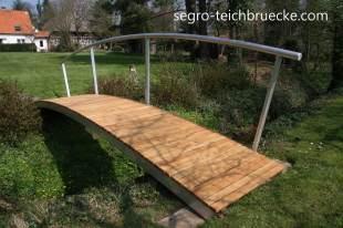 Segro Gartenbrücke mit einseitigem Geländer