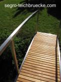 Teichbrücke Modern Art, Marke segro® Edelstahl