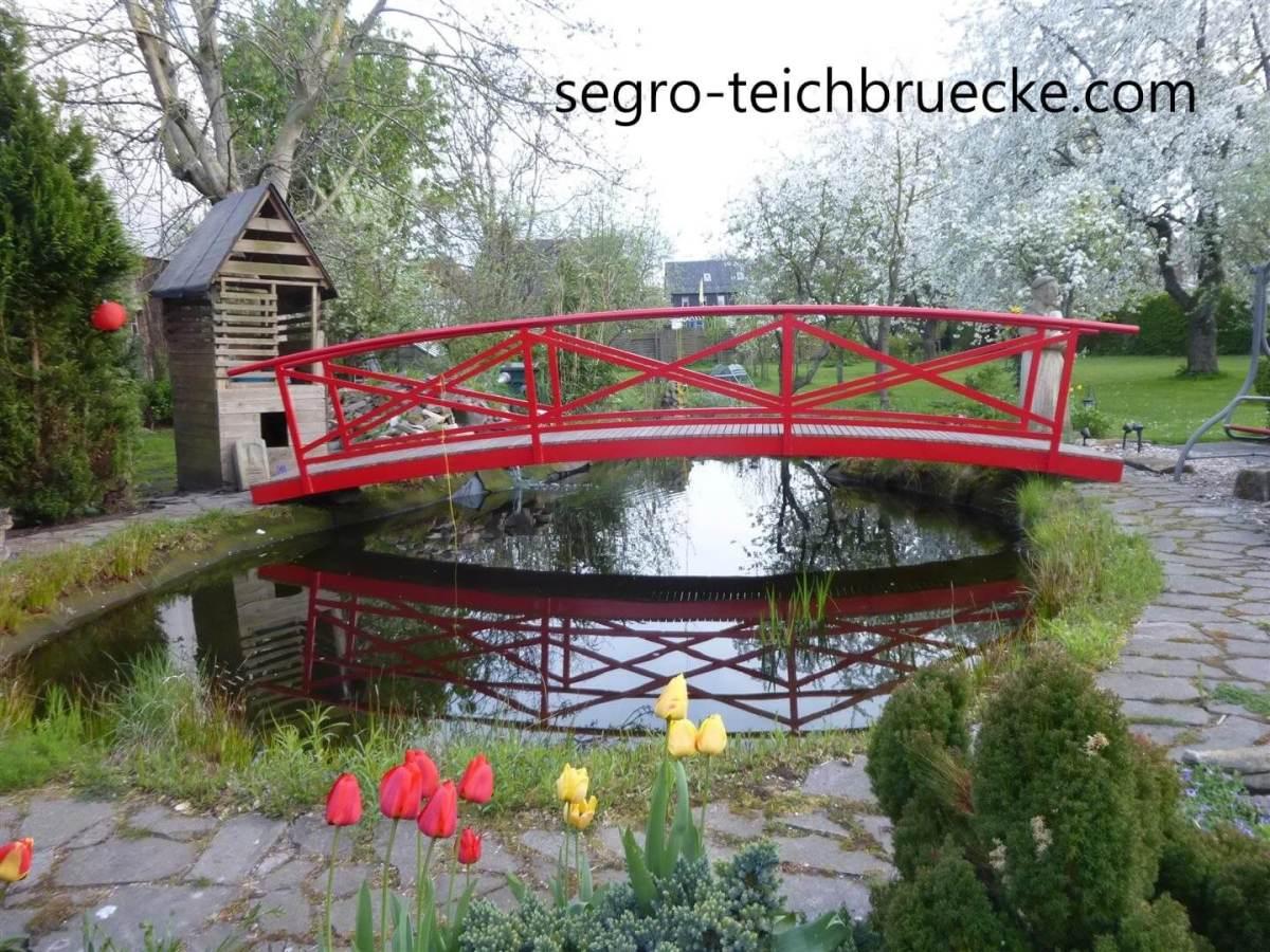 Teichbrücke Eifel, Marke segro® Aluminium, rot