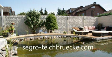 SEGRO Teichbrücke metall lang